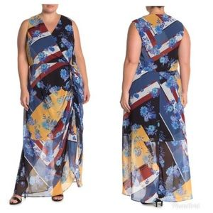NWT City Chic Indigo Patch Plus Size Maxi Dress